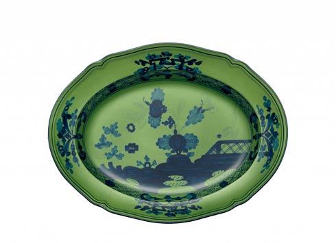 Ginori 1735 Oriente Italiano Malachite Oval Flat Platter $275.00