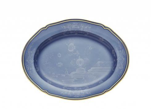 Ginori 1735 Oriente Italiano Pervinca Oval Flat Platter $350.00