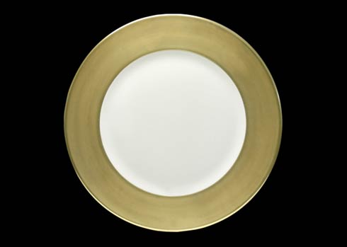 "$270.00 Charger Plate with Golden 2"" Rim"