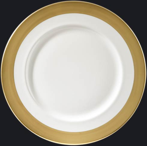 "$220.00 Charger Plate with Gold 1"" Rim"