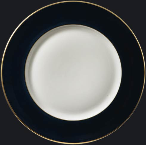 $150.00 Charger Plate with Black Rim & Gold Edge