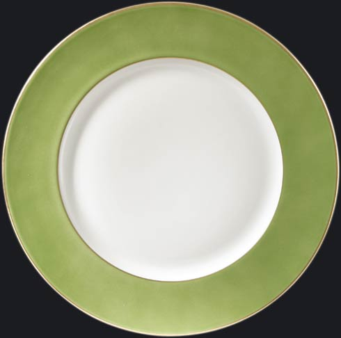 $150.00 Charger Plate with Lime Green Rim