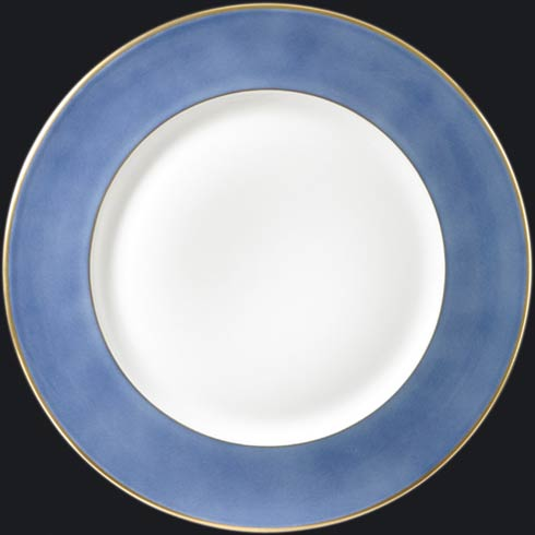 $150.00 Charger Plate with Light Blue Rim