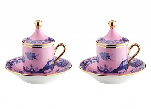 $545.00 Espresso Coffee Cup with Lid and Saucer S/2