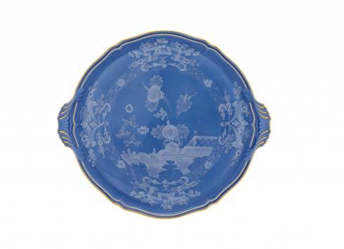 Ginori 1735 Oriente Italiano Pervinca Cake Plate with Handles $350.00