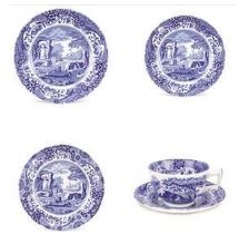 Blue Italian 5 Piece Place Setting