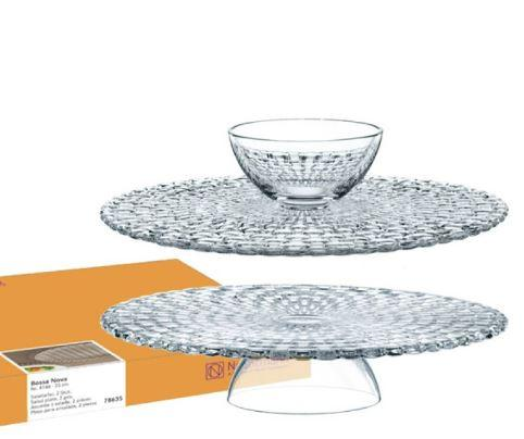 Nachtmann  BOSSA NOVA FOOTED CAKE PLATE (OR CHIP & DIP) $69.99