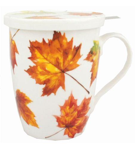 $21.99 Maple Leaf Forever Tea Mug w/Infuser & Lid