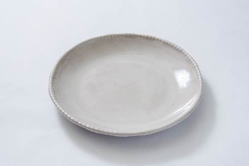 Relish Beaded Taupe Dinner Plate $20.00