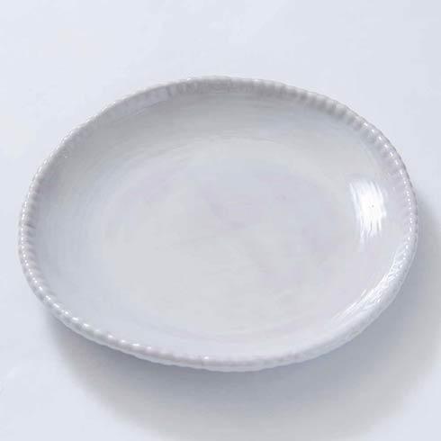 Relish Beaded Pottery White Dinner Plate $20.00