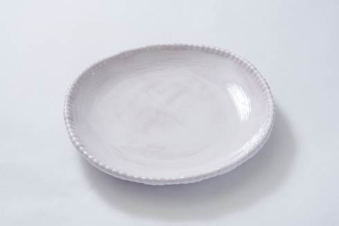 Relish Beaded Pottery White Salad Plate $18.00