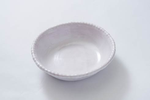 Relish Beaded Pottery White Soup/Cereal Bowl $18.00