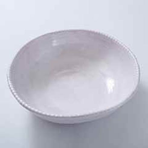 Relish Beaded Pottery White Serving Bowl $44.00