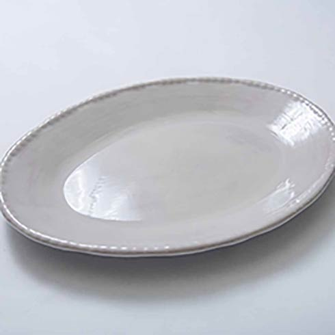 Relish Beaded Taupe Oval Serving Platter $42.00
