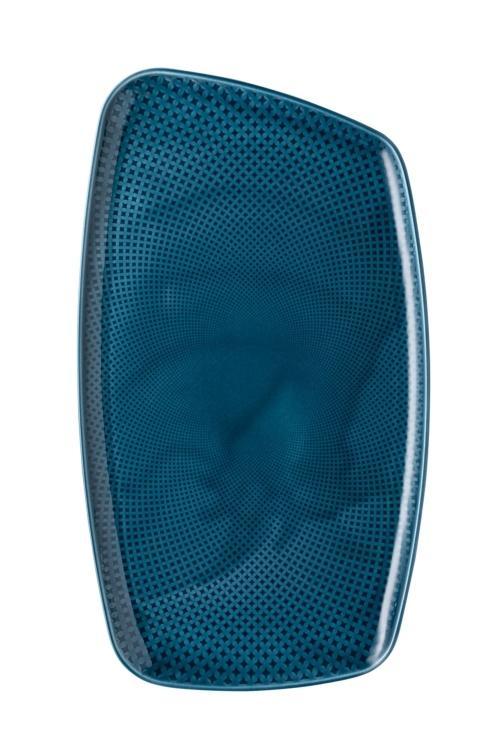 Rosenthal Junto Ocean Blue Platter 15 x 9 1/2 in $75.00