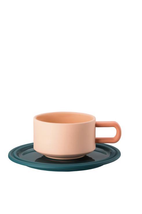 $325.00 Tea Cup & Saucer 6 1/4 in 8 oz