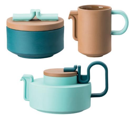 $1,295.00 Limited Teaset 3 pcs (Teapot 26 oz Sugar Bowl 3 oz Creamer 5 oz)