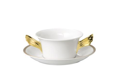 $293.00 Cream Soup Cup \u0026 Saucer  sc 1 st  Rosenthal - Bridge & Versace by Rosenthal Medusa D\u0027or Dinnerware products