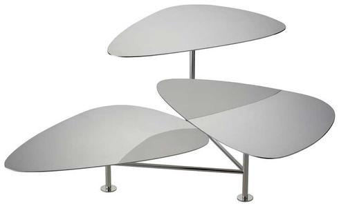 $1,025.00 Stainless Steel 3-Tiered Stand with Swivelling Servers