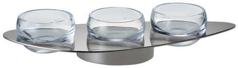 $220.00 Stainless Steel Holder for Three Small Bowls