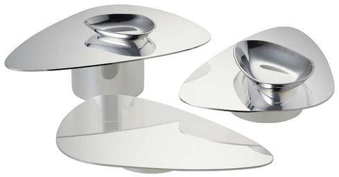 $860.00 Silver Plate Set of 3 Pedestal Servers