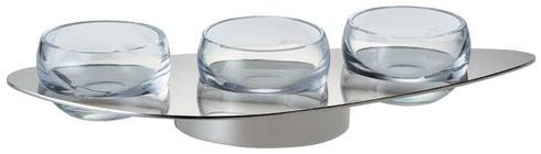 $295.00 Silver Plate Holder for Three Small Bowls