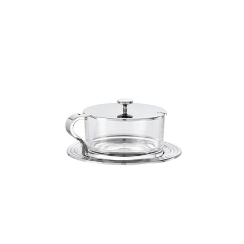 $10.00 Crystal cheese pot only