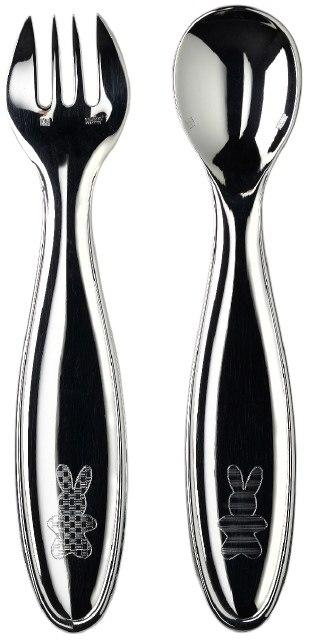 $275.00 Mascottes Baby Flatware 2 Pieces In A Case
