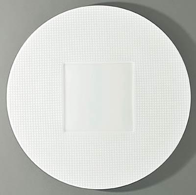 $155.00 Round Flat Plate- Square Center