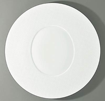 $155.00 Round Flat Plate- Oval Center