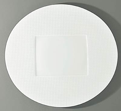 $150.00 Oval Flat Plate- Rectangular Center