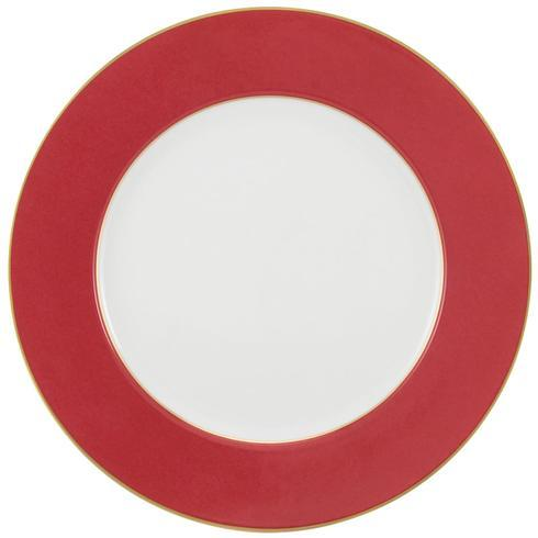 $125.00 Red with Gold Filet Buffet Plate - DISCONTINUED