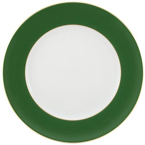 $125.00 Green with Gold Filet Buffet Plate