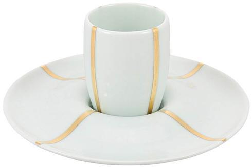 Lotus White Expresso Cup and Saucer