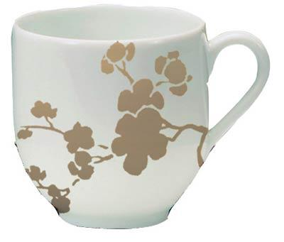 Coffee Cup for Black or Yellow Saucer