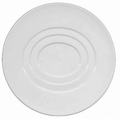 $50.00 Dessert Plate- Oval Concentric Center