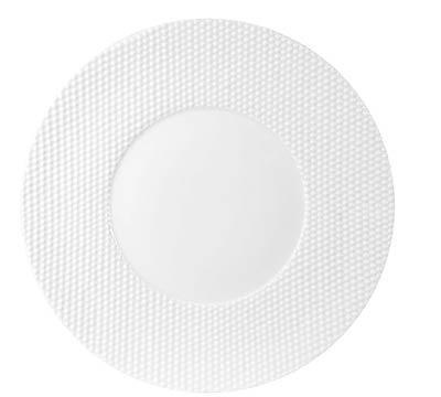 $95.00 Gloss White Buffet Plate