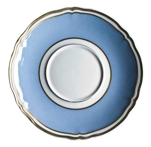 Polka Blue Cream Soup Saucer