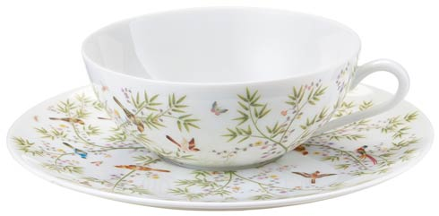 Raynaud  Paradis White Tea cup extra and saucer white background set GBX $200.00