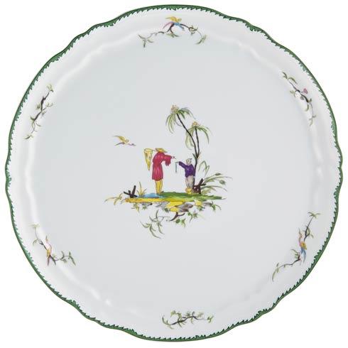 Flat cake serving plate