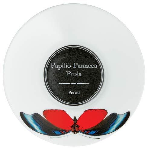 $92.00 Coffee Saucer in Red Butterfly (DISCO. While Supplies Last)