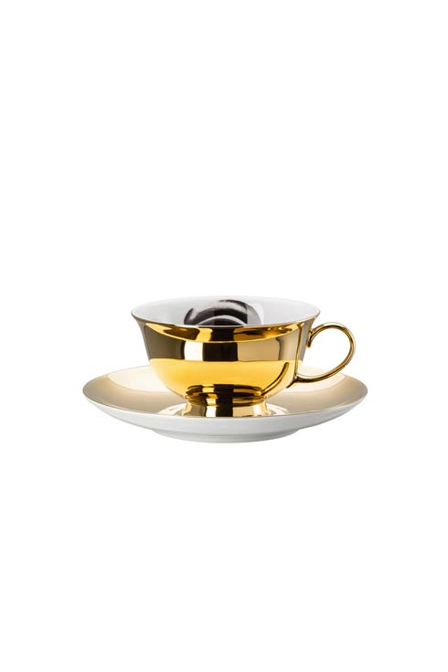 White/Black Cup & Saucer 4 Low