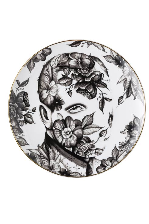 White/Black Plate 10 1/4 in image