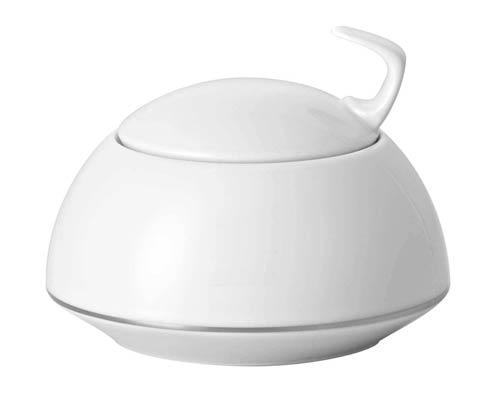 Rosenthal TAC TAC 02 Dinnerware - Platinum Sugar Bowl, Covered $124.00