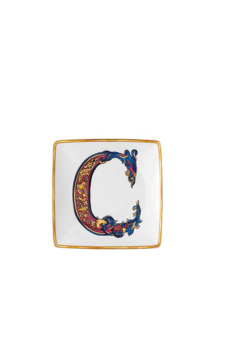Versace by Rosenthal  Versace Christmas Holiday Alphabet C - Canape Dish 4 3/4 in Square $65.00
