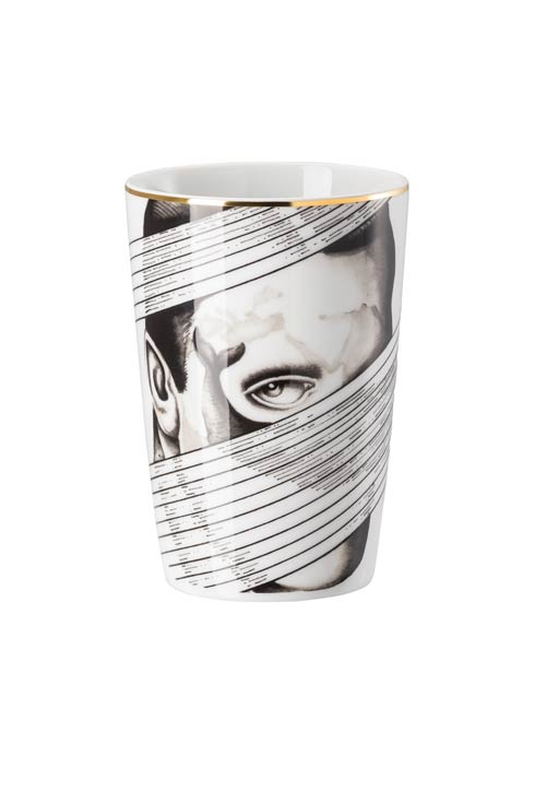 White/Black Travel Mug 13 oz