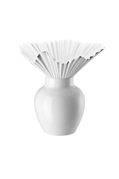 White Vase 10 1/2 in image