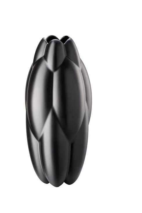 $425.00 Vase 12 1/4 in Black Matte