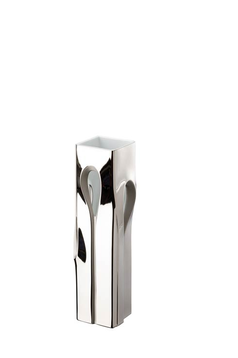 Platinum Vase 14 1/2 in