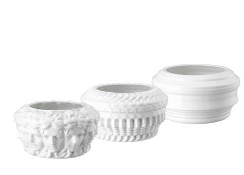 $3,350.00 Euphoria White - Set of 3 Vases